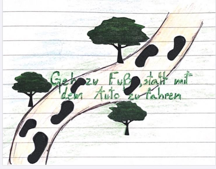 Auch beim Deutschunterricht feiern wir den Tag der Erde